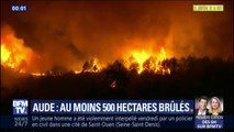 Incendie dans l'Aude: au moins 500 hectares ont été brûlés
