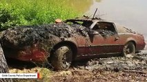 A Mud-Covered 1983 Pontiac Has Been Pulled From Lake. It Was Reported Stolen In 1989.