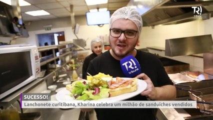 Kharina celebra um milhão de sanduíches vendidos em Curitiba