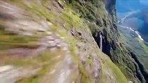 Vol à sensations fortes d'un Drone dans les montagnes de Norvège !