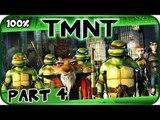 TMNT (2007 Movie Game) Walkthrough Part 4 - 100% (X360, PC, PS2, Wii) Cowabunga Carl Getaway