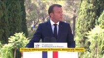 Emmanuel Macron commémore le 75e anniversaire du débarquement de Provence
