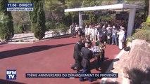 75e anniversaire du débarquement en Provence: Macron dépose une gerbe de fleurs en mémoire des combattants