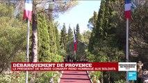 Débarquement de Provence : le président de la Guinée rend hommage aux soldats