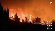 Aude : les pompiers font face à un violent incendie
