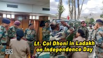 Lt. Col Dhoni in Ladakh on Independence Day