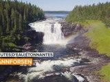 Chutes d'eau étonnantes: l'une des plus belles cascades de Suède