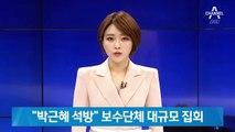 """""""박근혜 석방""""…서울 도심서 보수단체 대규모 집회"""