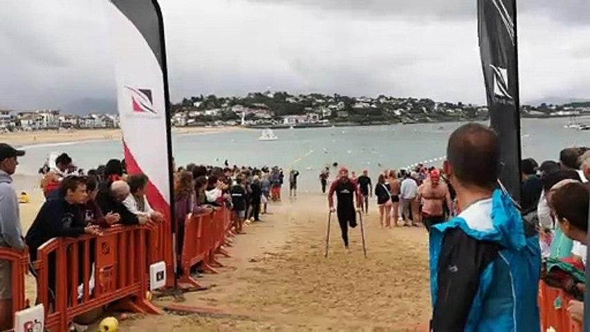 Le défi, accompli, d'un nageur de Briscous lors de la traversée de la baie de saint Jean de Luz