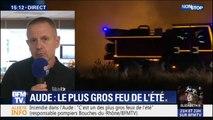 """Incendie dans l'Aude: """"C'est un des plus gros feux de l'été"""", déclare le responsable des pompiers des Bouches-du-Rhône"""