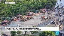 Contestation à Hong Kong : la Chine masse des forces de police à Shenzhen