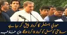 India's illegal annexation of Kashmir: Shah Mahmood Qureshi calls upon UNSC to play its role
