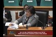 De Lima testifies on SC TRO on Arroyo travel ban