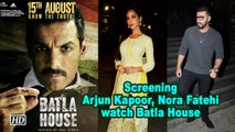 Arjun Kapoor, Nora Fatehi watch Batla House | Screening