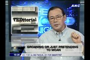 Teditorial: Groaning, or just pretending to moan