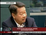 Ex-PAGCOR chief: I want my retirement benefits