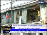 Demolition ongoing in Sucat, Parañaque
