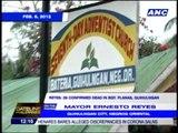 Mayor confirms landslide fatalities in Negros city