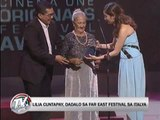 Lilia Cuntapay to attend int'l festival in Italy