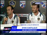 Dyan Castillejo reports on Beckham, Galaxy press con