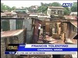 Informal settlers in Old Balara block demolition of shanties
