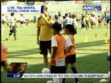Beckham, LA Galaxy hold football clinic