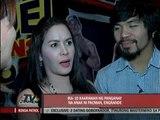 Manny, Jinkee plan 'sweet Valentine'