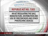 Banned firecrackers sold secretly