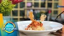 ¡Prepara un rico y económico espagueti a la boloñesa de pollo! | Venga La Alegría