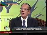 Aquino faces global Pinoys in forum