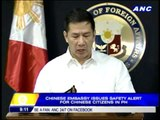 Safety alert issued to Chinese in PH
