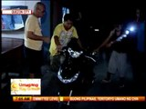 Cement mixer runs over motorcycle rider