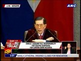Enrile takes responsibility for subpoena on CJ's bank records