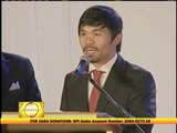 Pacquiao thanks God for giving him Jinkee