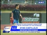 Dyan Castillejo update: Azkals ready for match vs Myanmar