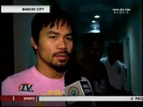 Manny kicks off training vs Mosley in Baguio