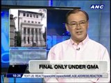Teditorial: Final only under Arroyo