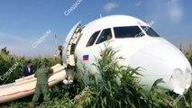 """러시아 여객기, 230여 명 태운 채 동체착륙...""""사망자 없어"""" / YTN"""
