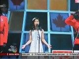 Maria Aragon sings before William, Kate