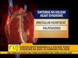 Experts warn of 'holiday heart syndrome'