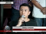 Ronald Singson apologizes to his dad