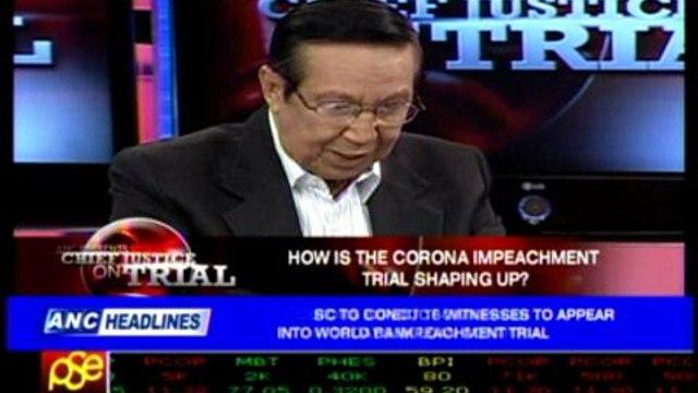 Law dean: Corona impeachment trial 'peculiar'