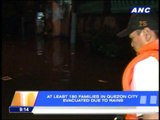 At least 180 families in QC area evacuate due to floods