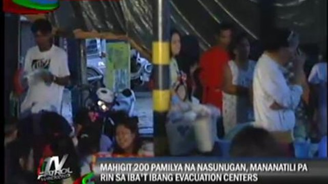 200 families hit by fire to stay in evacuation centers