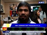 Pacquiao films TNT segment with Barkley, Miller