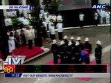 Sec. Robredo's remains arrive at Malacañang