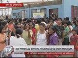 Sagip Kapamilya gives aid to 500 Baganga families