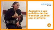 Argentine : une policière décide d'allaiter un bébé seul et affamé
