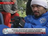 Pacquiao continues to prepare for Marquez bout