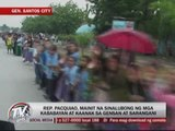 Despite loss, Pacquiao gets warm welcome in GenSan